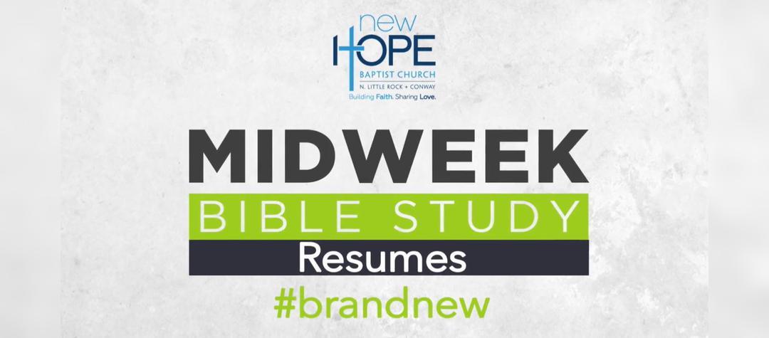 Bible Study Resumes