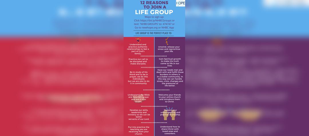 Life Group Signups Aug 2020
